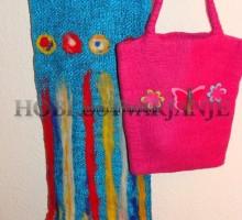 Polstenje volne, šal in torbica