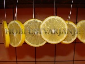4.sušenje, limon  na kavel