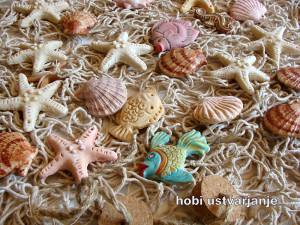 morski motivi iz  slanega testa