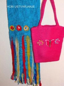 2.Šal in torbica,polstenje