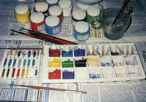 nadglazrna poslikava  barve