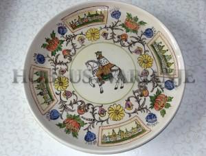 nadglazrna poslikava keramika , božični motiv,  barve, krožnik