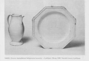 Žiga Zois, Beloprstena keramika in porcelan