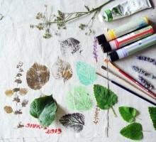 Vrečke, tisk z zelišči , mateja (2)