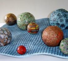 Slika 9: Planeti - keramika in steklo