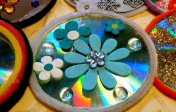 Novoletno ustvarjanje iz CD ploščkov